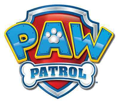 """Paw Patrol Badge Iron On Transfer 5""""x5.75"""" for LIGHT Colored Fabric"""