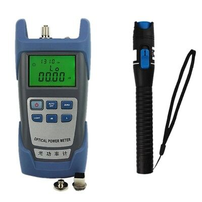 1MW FTTH Fiber Optic Cable Tester + Optical Power Meter FC SC -70~+10dBm