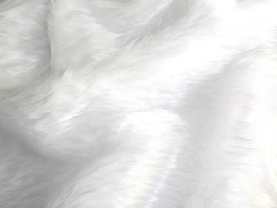 Plain Fun Faux Fur Fabric Material BRIGHT WHITE