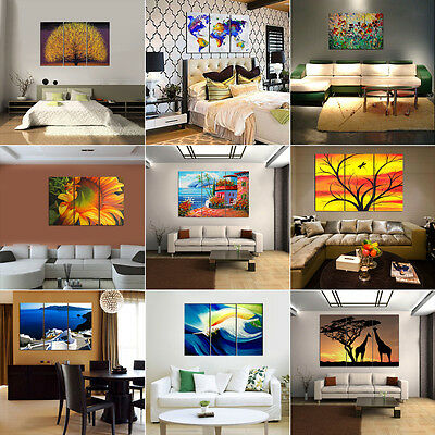 Large Hd Canvas Prints Wall Art Home Painting Decor Picture Abstract Unframed #4
