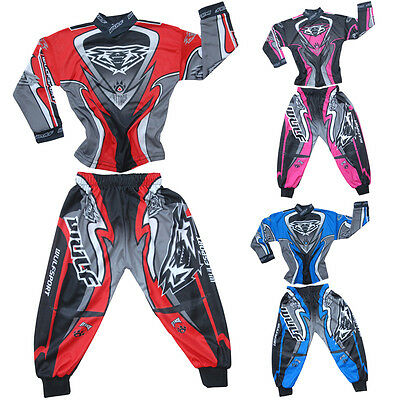 WULFSPORT TODDLER SUIT Kids OverSuit Overalls MX Quad Jersey Pant Age 2yrs Only