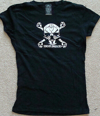 DISTURBED Baby Doll Style Tour T-Shirt Size large