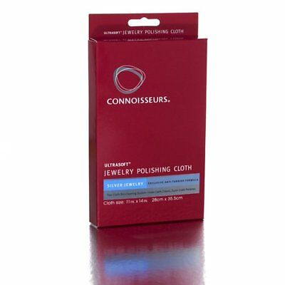 Connoisseurs Ultrasoft Large SILVER Jewellery Polishing Cleaning Tarnish Cloth