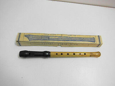 Vintage 1940's Simron Descant 61 Recorder With Original Box Plastic And Wood