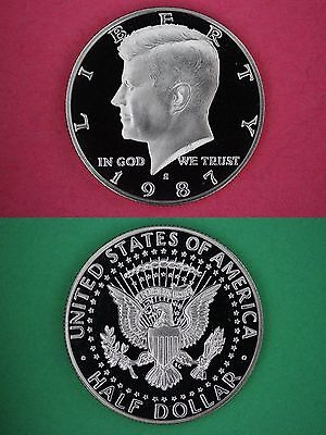 Clad 1987 S Proof John Kennedy Half Dollar Ultra Deep Cameo Combined Shipping