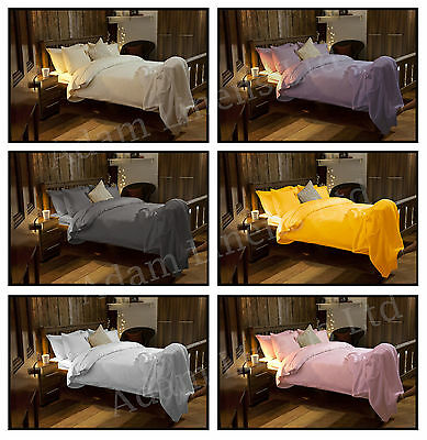 100% Cotton Brushed Thermal Flannelette Duvet Cover, Flat Or Fitted Sheet Set