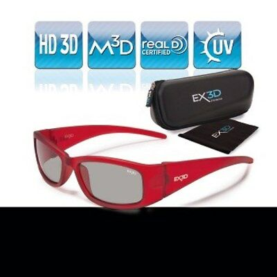 EX3D Kinder 3D Brille passiv rot für LG Philips Sony Panasonic HD 3D-TV TV RealD