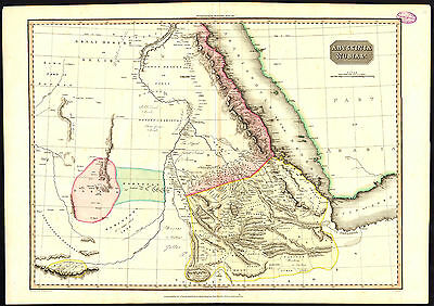 Antique Map-ABYSSINIA-NUBIA-ETHIOPIA-SUDAN-EGYPT-GULF OF ADEN-Pinkerton-1814