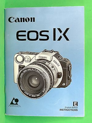 CANON EOS IX Camera Instruction Manual - Original not a copy