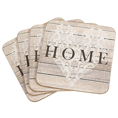 Set of 4 Drinks Coasters Home Heart Surface Protector Table Coffee Desk Tea Cup