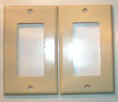 2 vintage uniline Cream Bakelite Rocker Switchplates EUC no Cracks sku29
