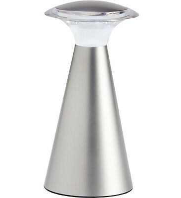 Battery Operated Table Lamp - Silver