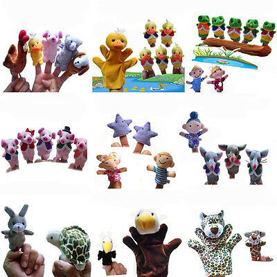 Story Learning Baby Kids Children Zoo Plush Toy Animal Hand Finger Puppets Cute