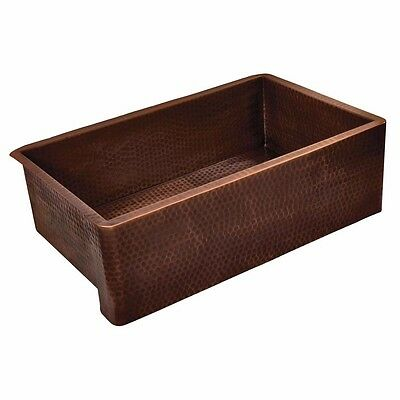 Belle Foret F1KITWC Kitchen Sink in Weathered Copper