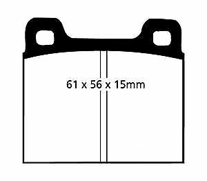 76 /> 84 EBC Ultimax Front Brake Pads for Vauxhall Chevette 1.3