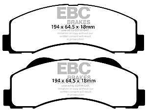 DP1259 EBC Ultimax Front Brake Pads fit for D F-150