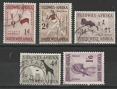 South West Africa 1960 Rock Painting Set Wmk Arms Used