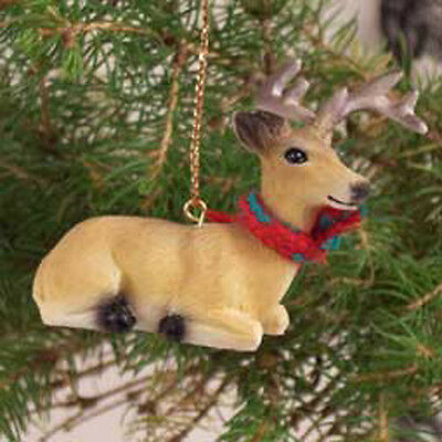 DEER Buck with Scarf Tiny One Miniature Christmas ORNAMENT