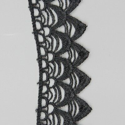 Black Polyester Lace Trims Applique Sewing Trims DIY Craft For Costume 3 Yards