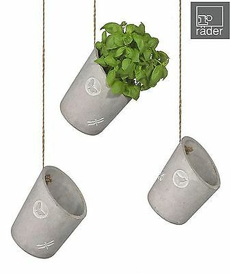Raeder Green Soul Hanging Flower Plant Herb Pot, Small Medium or Large