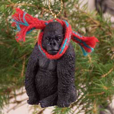 GORILLA with Scarf Tiny One Miniature Christmas ORNAMENT