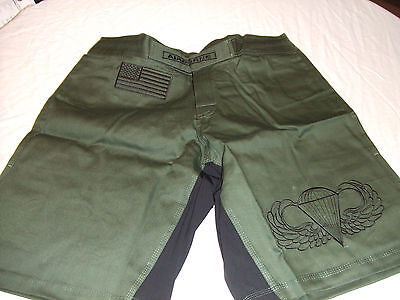 BLANK O//S OLD SCHOOL GREEN MMA PT S-T-COMP BOARD SHORTS FIGHT SHORTS  S 5 XL