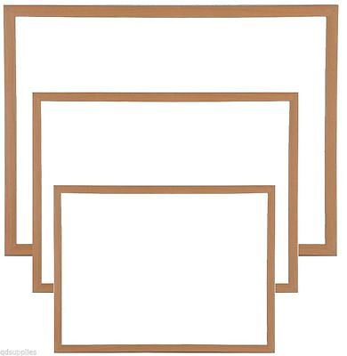 Magnetic Whiteboard Large & Small Wood Frame Drywipe Office Notice Menu Board