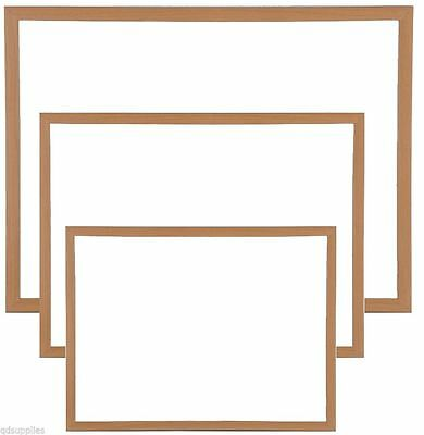 Premium Magnetic White Board Large & Small Wooden Frame Drywipe Office & Notice