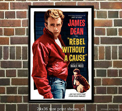 James Dean - Rebel without a Cause - Classic Vintage Film Movie Poster