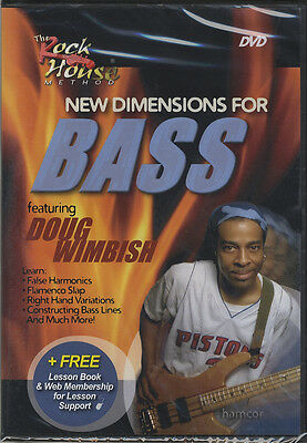 RRP 19.95 New Dimensions for Bass Doug Wimbish Bass Guitar Tuition DVD
