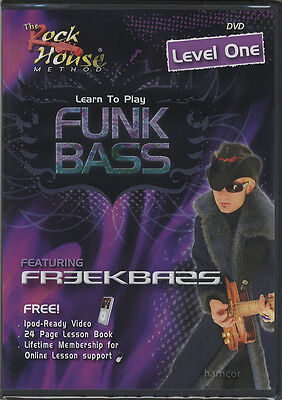 RRP 19.95 Learn How to Play Funk Bass Level 1 Bass Guitar Tuition DVD Freekbass