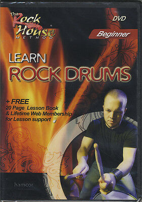 RRP 15.95 Learn How To Play Rock Drums Beginner DVD Tutorial Method Mark Manzcuk