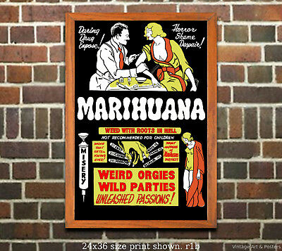 Reefer Madness #5 - Vintage Film Movie Poster [6 sizes, matte+glossy avail]