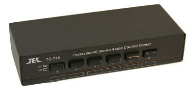 TC-716 Line Level Audio Selector/Expander (BLACK); Allows Mixing Multiple Inputs