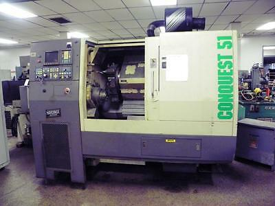 Hardinge Conquest T51 CNC Lathe Turning Center, Fanuc Control