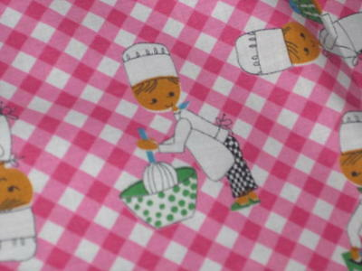 Kiss The Cook! Vtg German Spring Checkerboard Print Large Tablecloth Bobbin Lace