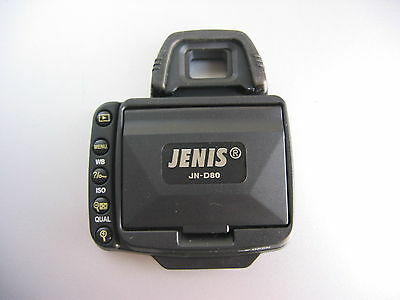 Blendschutz Jenis J-ND80-P-L Professional LCD Hood for Nikon D80 (Black)