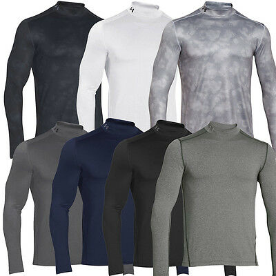 Under Armour 2017 Mens ColdGear Mock LS Thermal Shirt Golf Base Layer - Fitted
