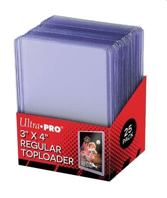 (25) Ultra-Pro 3x4 Regular Trading Card Toploaders Rigid Cases For Trading Cards