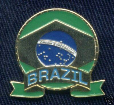 Brazilian Emblem Brazil Flag Metal Enamel Pin Badge