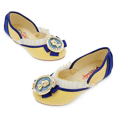 Disney Store Snow White Costume Dress Up Shoes Girls 7/8 9/10 11/12 13/1 2/3 NWT