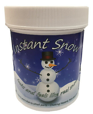 2 x 100g Instant Artificial Fake Insta-Snow Christmas Shop Window Decoration