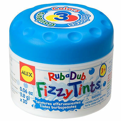 Alex RUB A DUB FIZZY BATH TINTS Baby/Toddler Water Colour-Change Bath Toy BN