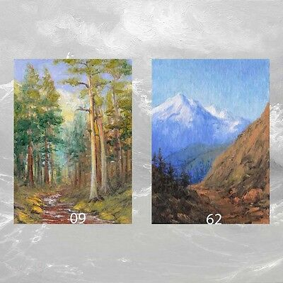 LOT #18 of 2 ACEO PRINTS  FINE ART LANDSCAPE GIFT FOREST MOUNTAIN Trees Stream