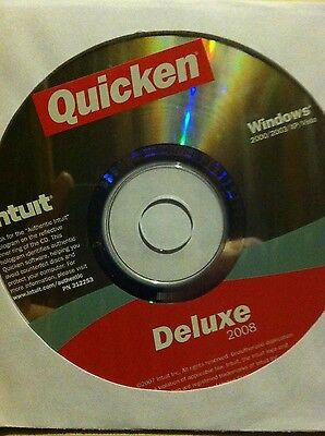 Intuit Quicken 2008 Deluxe for Win 2000/2003/​XP/Vista - CD Only
