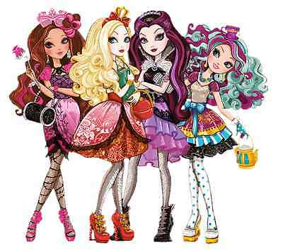 """Ever After High Iron On Transfer for LIGHT-COLORED Fabric, 5""""x5.5"""""""