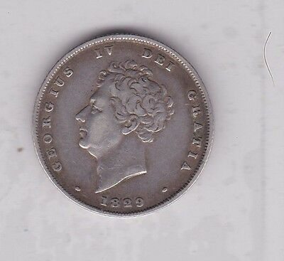 1829 George Iv Shilling In Near Very Fine Condition