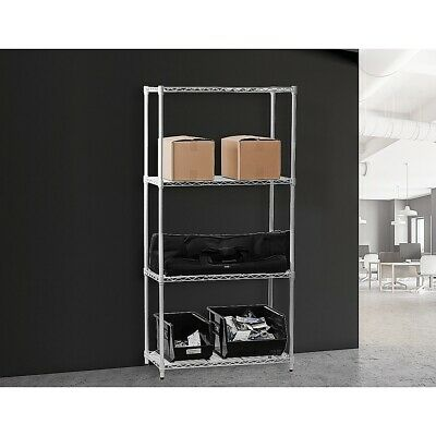 900 x 450 MODULAR CHROME WIRE SHELVING SHELF STORAGE STEEL METAL SHOP DISPLAY