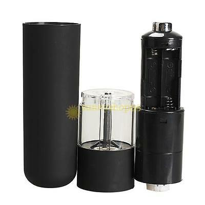 Stainless Steel Electric Salt Pepper Mill Grinder with Light Black Gourmet  New