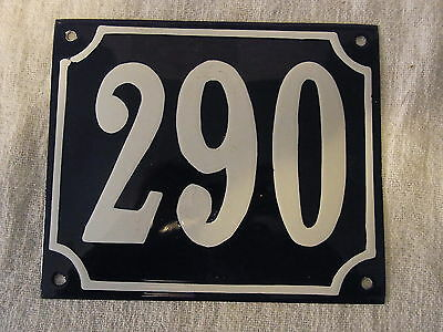 Vintage German Enamel & Iron Sign Blue House 290  #B